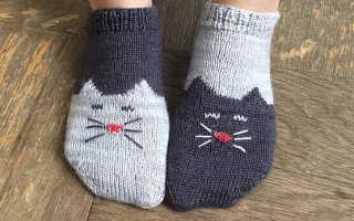 Вязаные носки для дочки спицами, мастер-класс + фото