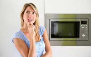 Запах в микроволновке как избавиться