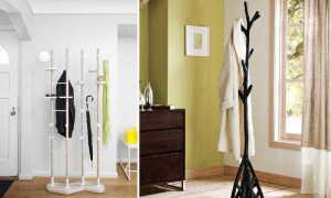 Деревянные напольные вешалки для одежды, пиджака, костюма: видео-инструкция по выбору своими руками, какой лак используют для покрытия, фото и цена