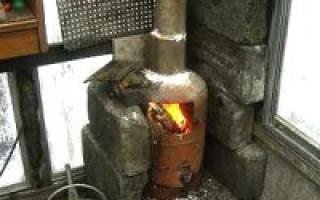 Делаем печь для теплицы своими руками