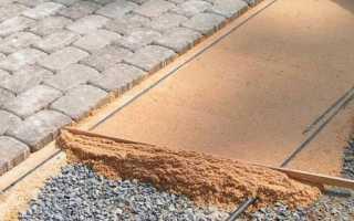 Гарцовка для тротуарной плитки — что это и зачем нужна