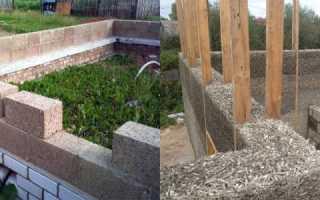 Изготовление фундамента для дома из арболитовых блоков