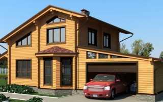 Гараж, пристроенный к дому (29 фото): расстояние от пристройки до забора. Можно ли пристроить к деревянным домам? Размеры гаража из газобетона и других видов