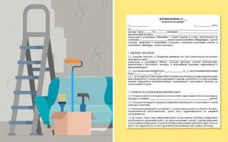 Договор на ремонт квартиры: с физическим лицом, бланк