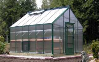 Двускатная крыша для теплицы – оптимально