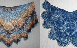 Ажурные шали спицами: схемы и описание с фото и видео