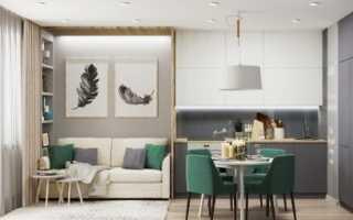 Дизайн кухни в однокомнатной квартире: фото идей, подбор стиля интерьера и мебели