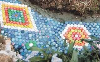 Дорожка из пластиковых бутылок своими руками + фото