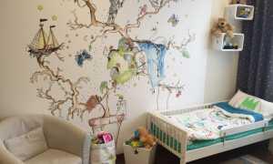 50 идей росписи стен в детской комнате