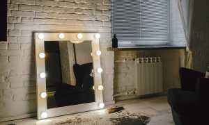 Зеркало с лампочками, преимущества, классификация изделий