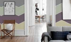 Варианты покраски стен в интерьере квартиры в два цвета и другие способы: дизайн, фото примеров