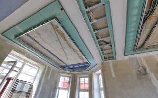 Двухуровневые потолки из гипсокартона с подсветкой под ключ