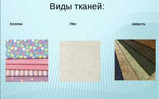 Виды тканей, фото и их названия
