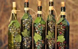 Декор бутылок к 8 марта 50 фото вариантов украшения своими руками
