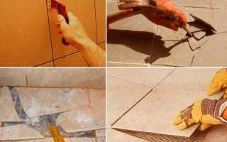 Как аккуратно снять плитку с пола