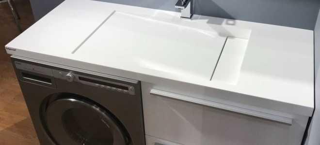 Как выбрать подходящую раковину со столешницей под стиральную машину: виды, материалы, размеры