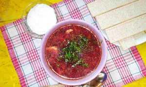 Как готовить борщ: пошаговый рецепт с красной свеклой и капустой