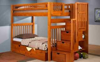 Выбор двухъярусной кровати из дерева