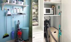 7 хитростей хранения швабры, чистящих средств, пылесоса и прочего инвентаря для уборки