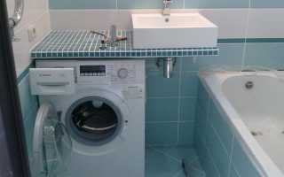 Как выбрать стиральную машинку под раковину в ванную комнату
