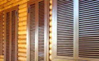 Деревянные ставни: фурнитура, декорация, формы и материалы