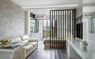 Зонирование гостиной с помощью мебели, перегородок и отделки стен
