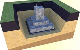 Возведение фундаментов стаканного типа, монтаж колонн в стаканы