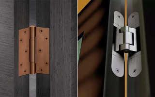 Использование черных петель для межкомнатных и входных дверей
