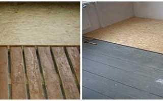 Выравнивание деревянного пола осб плитой
