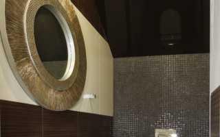 Дизайн натяжного потолка для ванной комнаты