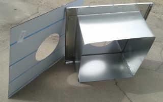 Как делается потолочно-проходной узел дымохода: инструкция, видео
