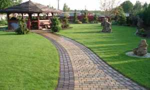 Дизайн садового участка с тротуарной плиткой