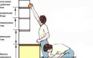 Высота кухонного гарнитура: рассчитываем расстояние между столешницей и навесным шкафом при проектировании мебели для кухни