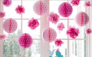 Елочные шары из декоративной бумаги