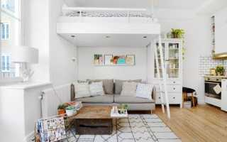 Дизайн интерьера квартиры студии в кофейном цвете