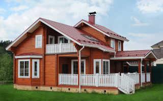 Защита и украшение – наружная покраска дома из бруса, фото
